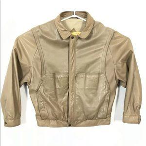 Vintage holt renfrew Soft leather Bomber jacket